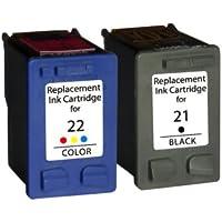 Prestige Cartridge 21XL / 22XL Lot de 2 Cartouches d'encre compatible avec Imprimante HP Deskjet F2110 Noir/Couleur