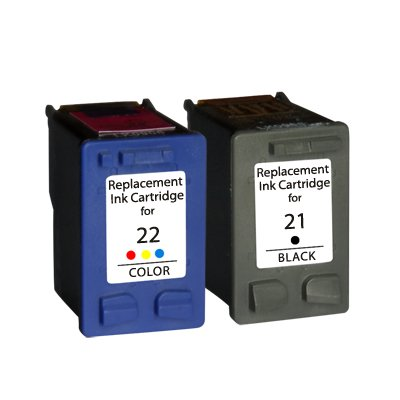 Prestige Cartridge HP 21XL / HP 22XL - Pack of 2 ink cartridges for HP DeskJet Series - color and black
