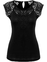 7b35f86e8723 Suchergebnis auf Amazon.de für: schwarzes spitzentop - Baumwolle ...