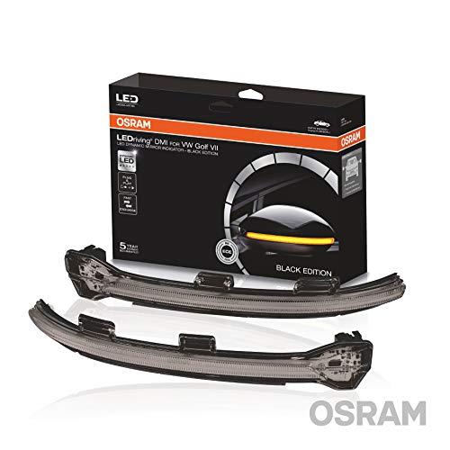 OSRAM LEDriving dynamischer LED Spiegelblinker für VW Golf 7 und Touran - Black Edition, LEDDMI 5G0 BK S, 1 Set