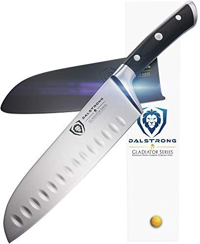 DALSTRONG Santokumesser - Gladiator Serie - Deutscher HC Stahl – 18 cm - Chef Global Set Messer