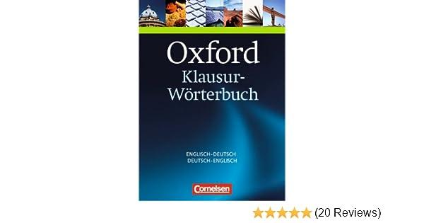 Oxford-Klausur-Wörterbuch: Englisch-Deutsch, Deutsch-Englisch ...