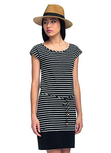 Ragwear Soho Stripes Kleid Schwarz