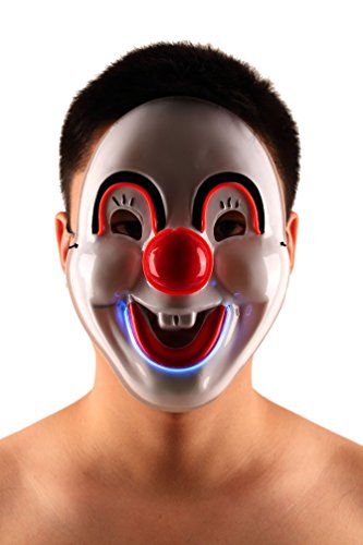 Brinny EL Wire Drahtmaske Leuchten Maske LED Leucht Leuchtmaske Make Up Partymaske mit Batterie Box Kostüme Mask Weihnachten Tanzen Party Nacht Pub Bar Klub 10 (Iron Mann Lady Kostüm)