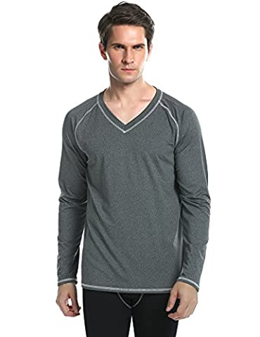 Ekouaer Mens Longsleeve Rashguard - Slim Fit Performance Sports Casual Long Sleeve UPF 50+ Sun Protective Shirts for Men