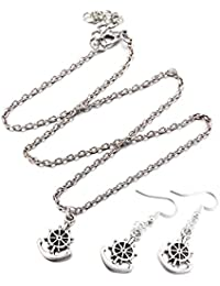 Young & Forever Mothers Day Gifts Inspirational Collection Silver Plated Anchor Pandant Necklace And Earring Jewellery...
