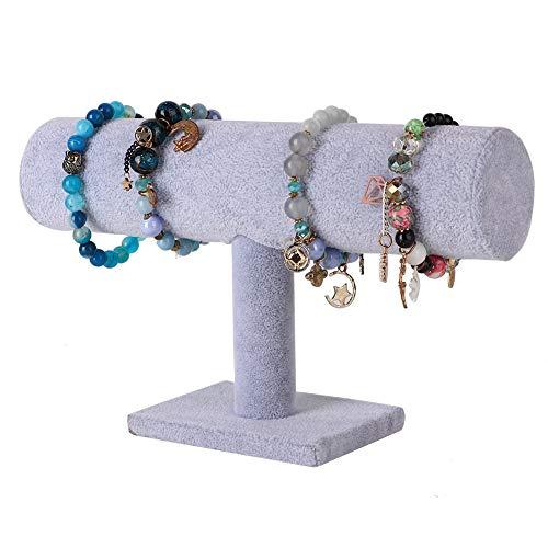 Nannday T-Form Schmuckständer, praktische Display Stand Inhaber Ohrringe Armband Veranstalter -