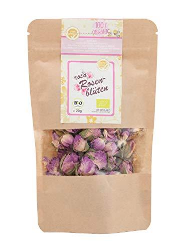 direct&friendly Bio Rosenblüten getrocknet, rosa, Essblüten im Nachfüllpack (20 g)