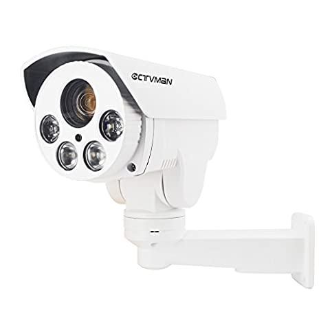 CTVMAN HD IP PTZ Camera Outdoor 1080P 10X Optical Zoom