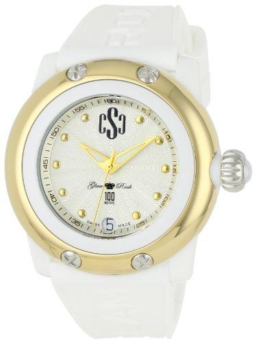 Glam Rock Women's GR64005 Miami Beach Silver Dial White Silicone Watch