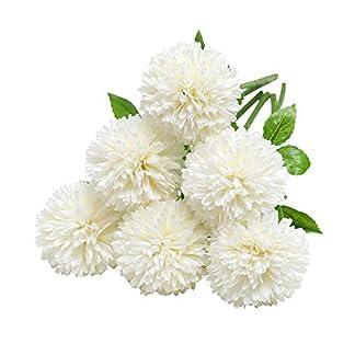 Tifuly Flores de hortensias Artificiales, crisantemo de Seda pequeña Bola de Flores para la decoración de la Oficina de la Fiesta del jardín del hogar, Ramos de Novia, arreglos Florales