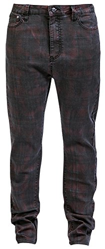 Rock Rebel by EMP Checked Boyfriend Pantaloni donna rosso W31L34