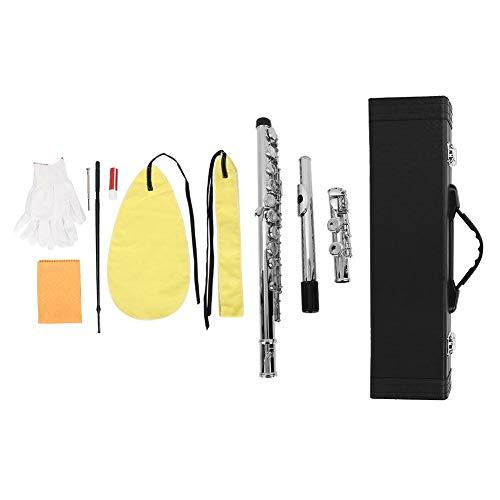 en-Flöten-Set mit 16 Löchern und Handschuhen silber ()