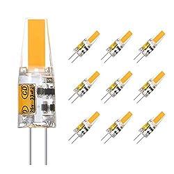 Eterbiz G4 LED Lampe 2W, Warmweiß 3000K, 200LM, AC/DC 12V Glühlampen, Ersatz für 20W Halogen, nicht dimmbar, 360° Abstrahlwinkel LED Stiftsockellampe, kleine Glühlampe