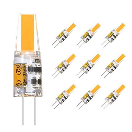 Eterbiz G4 LED Lampe 2W, Warmweiß 3000K, 200LM, AC/DC 12V Glühlampen, Ersatz für 20W Halogen, nicht dimmbar, 360° Abstrahlwinkel LED Stiftsockellampe, kleine Glühlampe -