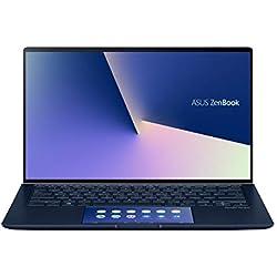 "Asus ZenBook UX434FL-A6013T PC Portable 14"" FHD (Intel Core i7-8565U, RAM 16Go, 512Go SSD PCIE, Nvidia MX 250 2Go, Windows 10) Clavier AZERTY Français"