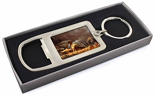 4107upA6%2BBL BEST BUY UK #1Horse Riding Cowboy Chrome Metal Bottle Opener Keyring in Box Gift Idea price Reviews uk