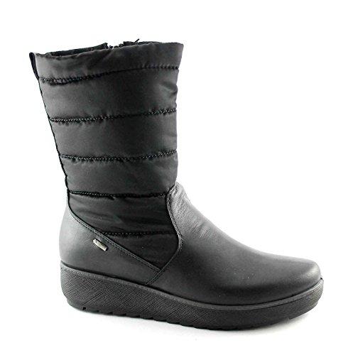 IGI & CO 67810 noir bottes zip femmes gore-tex cuir coin Nero