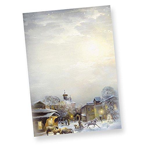 WINTER-AQUARELL 110-0050 DIN A4 90g 50 Blatt Briefpapier - oder andere Menge wählen: