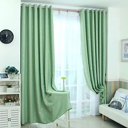 YANQ Verdunkelungsvorhänge Wohnzimmer Schlafzimmer Kinder Vorhänge Custom Fertige Garten Mediterrane Sternenvorhänge (Farbe : Green, größe : 130cm*180cm)