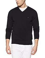 Tommy Hilfiger Mens Cotton Sweater (8907504769674_A7AMS155_XL_New Black)