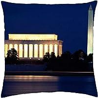 Washington Monument Washington DC Lincoln Memorial–Throw Pillow Cover Case (45,7x 45,7cm)