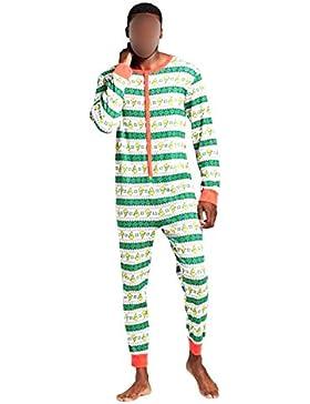 Hzjundasi Familia Navidad Mono Pieza Pijamas - Navidad Impreso Mono Padre-Hijo Bodysuit Familia Pijama Ropa de...