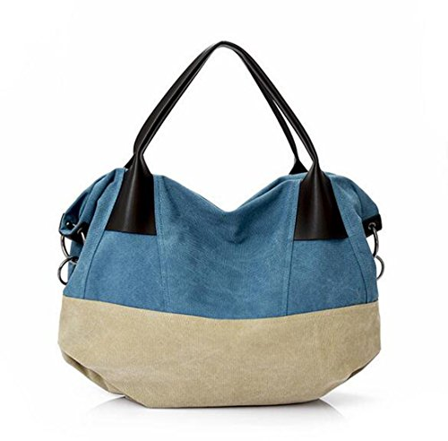 Fansela Große Handtasche Damen Bag Schultertasche Canvas Tasche Shoulder Bag shopper (large size), Modell-E Modell-C