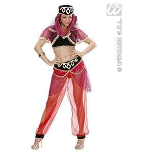 widmann-wdm70371disfraz Adulto para mujer, Color Negro y Rojo, wdm70371