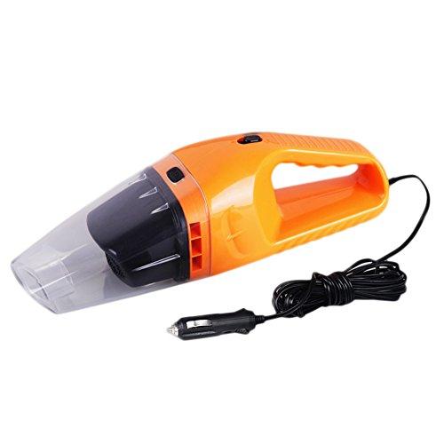 Yharadraf Handstaubsauger, Auto staubsauger 12V 120W mit Starker Saugkraft Nass und Trocken Reinigung Hochleistungssauger 5M Stromkabel (Orange) (Vakuum Kommerzielle Manuelle)