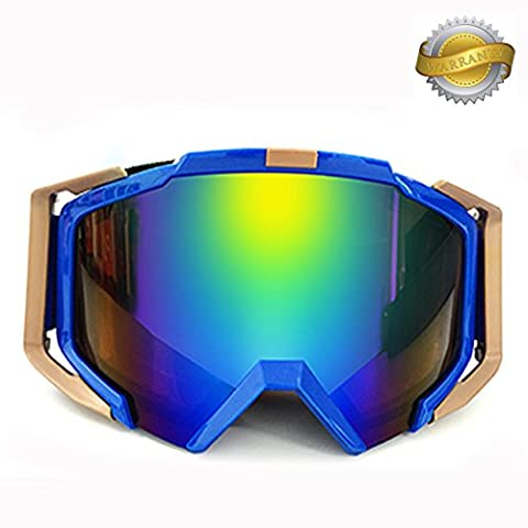 Skibrille Anti-Fog winddicht UV 400protecttion Double Lens fucnen Schneemobil Snowboard Brille Motocross Snow Brillen für den Wintersport ideal Weihnachtsgeschenk für Ihre ihn Dad Mom Herren Frauen, (Best Tech-weihnachtsgeschenke 2016)