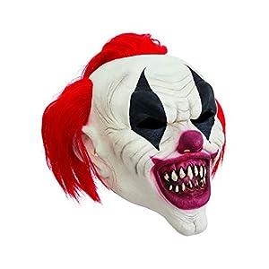 Bristol Novelty Novelty-BM547 BM547 - Máscara de payaso con pelo rojo, talla única, unisex, multicolor