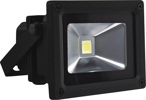 Velamp IS140 Projecteur COB LED IP65 10W 6500K Aluminium Noir