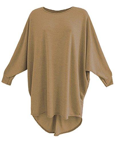 Fashion & Freedom -  Maglia a manica lunga  - Donna Camel