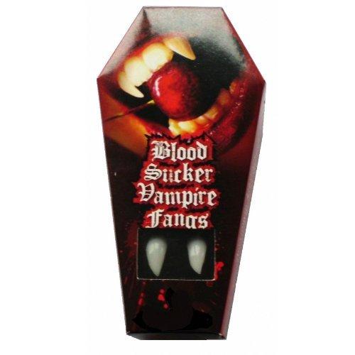 Sylvan Inc 97163957.001(2) - 2 Vampirzähne mit Thermoplastmasse für perfekten Sitz, wiederverwendbar, weiß (Ideen Für Erwachsene Für Halloween-essen)
