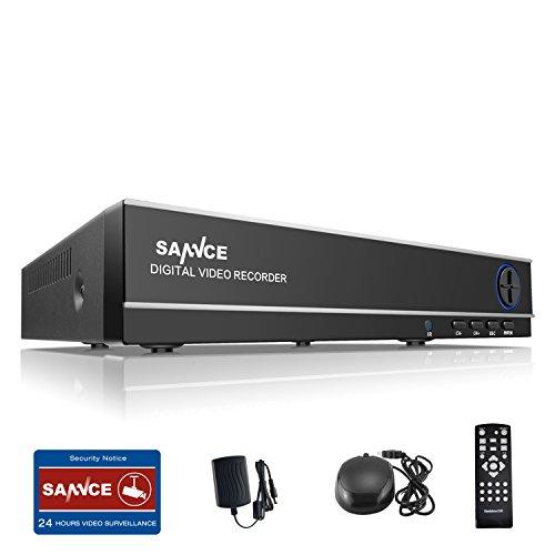SANNCE 8CH 720P CCTV TVI DVR Recorder Videoüberwachung Netzwerk Digital Video Recorder H.264 für Videoüberwachung Aufzeichnungsgerät Bewegungserkennung Fernüberwachung