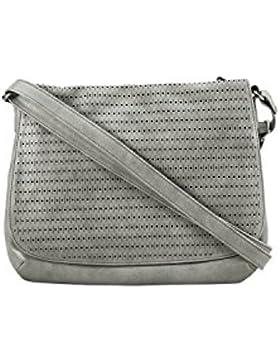 s.Oliver RED LABEL Damen Shoulder Bag mit Lochmuster urban grey 1