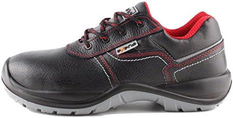 Stenso Sicilia S3® - Zapatos de seguridad para trabajo - Cuero resistente al agua - Puntera flexible sin acero...