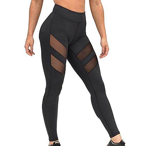 Zolimx Frauen Hohe Taillen dünnen Yoga Hosen Leggings (S, Schwarz)