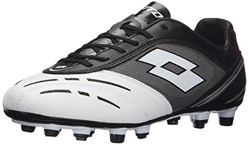 Lotto Stadio Potenza VI 700FG - Scarpe da calcio, colore: bianco e nero multicolore Size: 7,5 USA