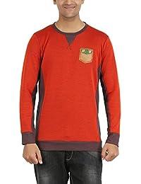 Indian Polo Men's Cotton T-Shirt (DTS118--M, Red, Medium)