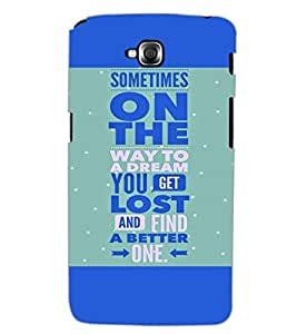 LG G PRO LITE QUOTE Back Cover by PRINTSWAG