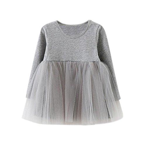 feiXIANG Baby Rock mädchen Langarm Solid Tutu Kleid Princess Kleid Casual Tanzkleidung Kleinkind...