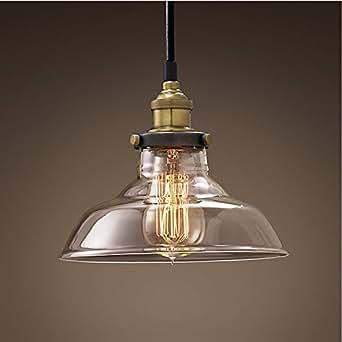 """Edison Deckenleuchte aus Glas """"Heywood"""" Loft Deckenlampe Industrie Edison Ste..."""