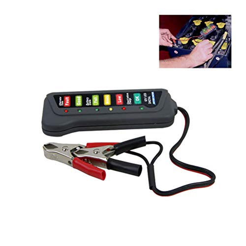 Laduup 12V LED Batterietester Energy Check - Professionelles Testgerät für Kapazität, Spannung Energiegehalt - Universal Tester für Akku, Batterie, Knopfzellen etc