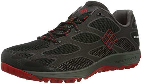 Columbia - Conspiracy Iv Outdry, Scarpe da Arrampicata Basse Uomo Nero (Black/ Bright Red)