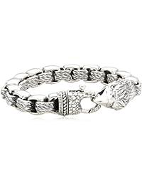Baldessarini Herren Armband 925 Sterling Silber rhodiniert Diamant schwarz