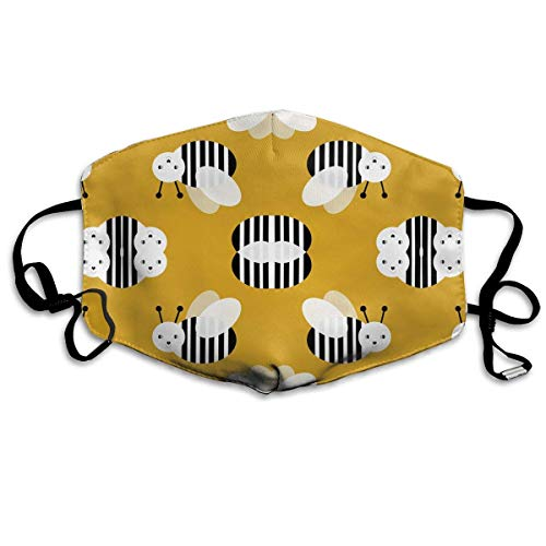 Masken,Masken für Erwachsene,Bumble Bee Garden Summer Cute Stripes Washable and Reusable Cleaning Mask,For Allergens,Exhaust Gas,Running,Cycling,Outdoor Activities