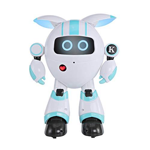 12shage Kinder Ferngesteuerter Roboter, Gestenerkennung Roboter Spielzeug für Fernbedienung Elektronisches Tanzen Vokalroboter Spielzeug (Blau)