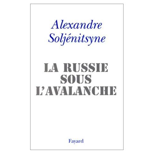 La Russie sous l'avalanche